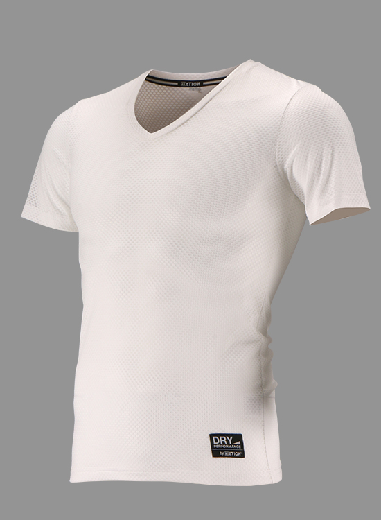 CRATER MESH V NECK S/S SHIRT